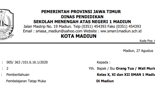 Web Portal SMAN 1 Madiun